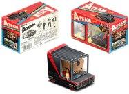 Paper model imprimible y recortable de la furgoneta del Equipo A de juguete. Manualidades a Raudales.Manualidades a Raudales.
