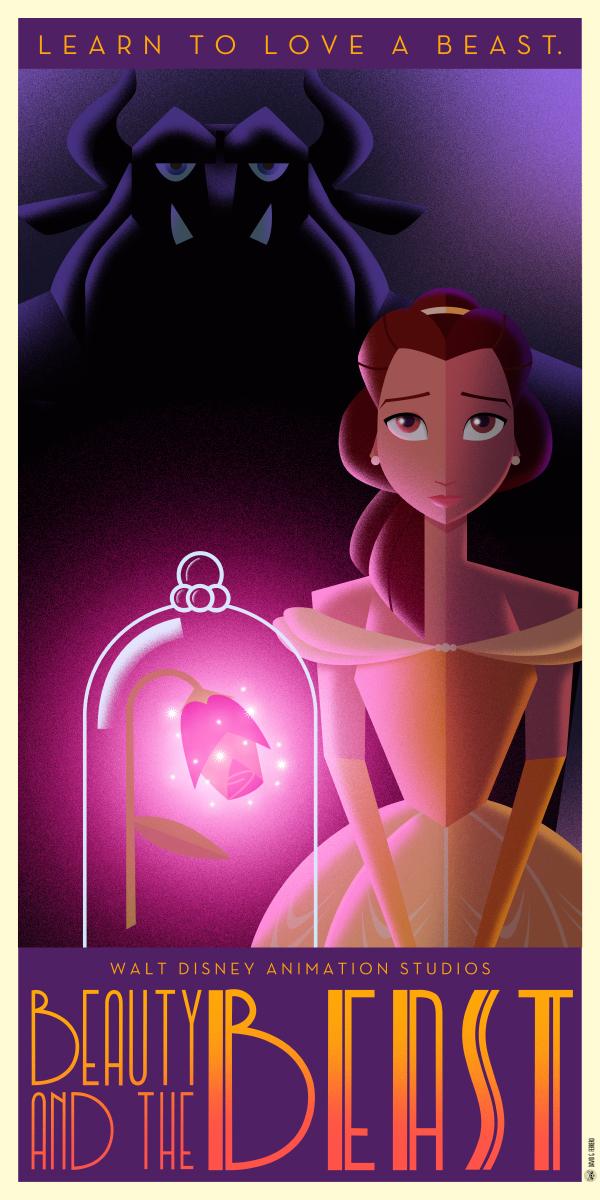 Disney Art Deco posters by Chernin \u2013 Varietats