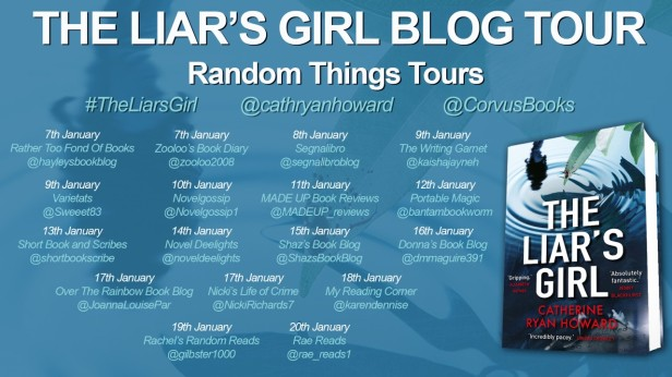 the liar's girl blog tour poster